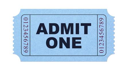 admit one: Admit one ticket