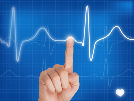 taking pulse: Pointing on a electrocardiogram