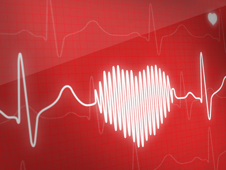 taking pulse: Electrocardiogram Stock Photo