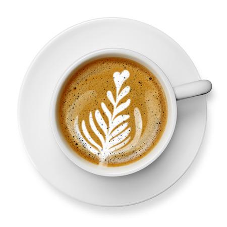 라떼 아트 커피 잔 스톡 콘텐츠