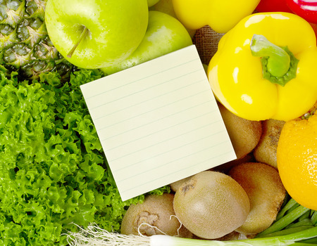 shopping list: Shopping list on fruits and vegetable