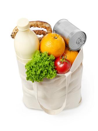 reusable: Reusable eco friendly grocery bag Stock Photo