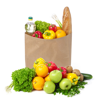 apple paper bag: Fruits and vegetables