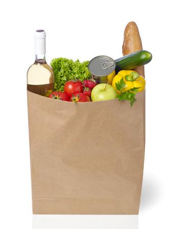 apple paper bag: Shopping bag