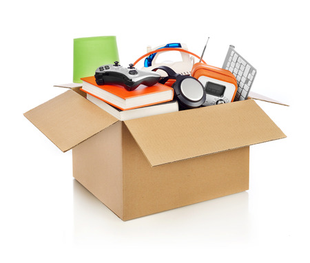 home moving: Moving box Stock Photo