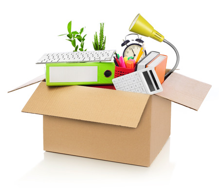 moving crate: Moving office Stock Photo