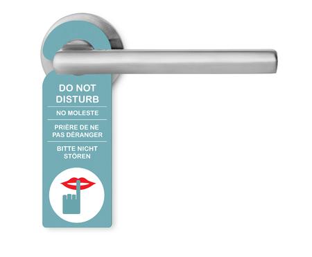 manejar: No molestar en manija de la puerta