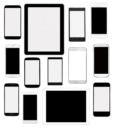 mobile phone screen: Digital devices Stock Photo