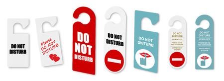 to disturb: Do not disturb door signs Stock Photo