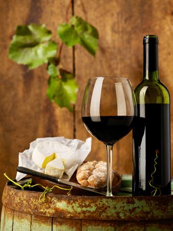 copa de vino: Vino tinto y el queso