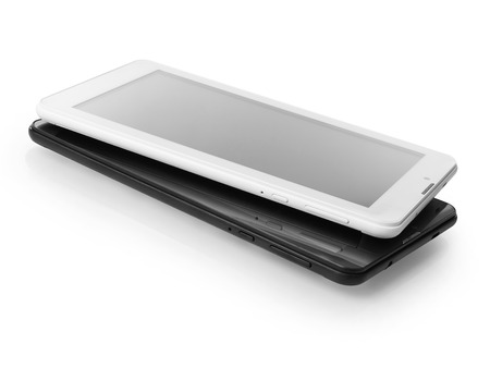 personal data assistant: Black and white digital tablets