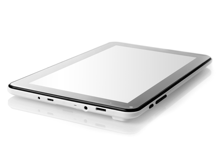 front view: Digital tablet