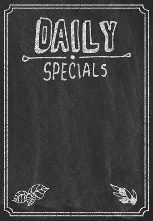 specials: Daily specials menu