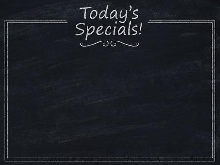 Todays specials menu
