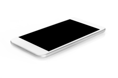 computer monitor: Mobile phone isolated on white