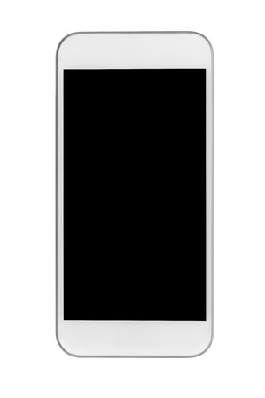 palmtop: Mobile phone isolated on white