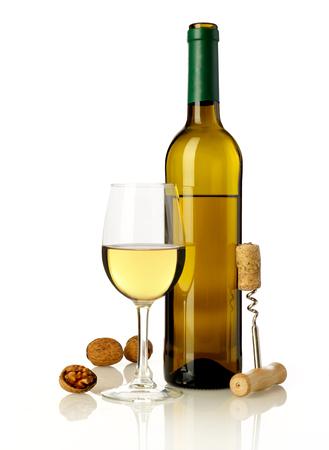 ワイン、ナットおよび瓶のオープナ 写真素材