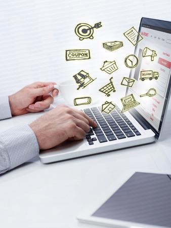 teclado de computadora: Las compras en l?nea