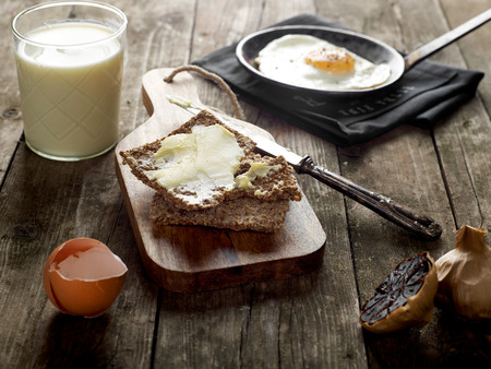 whole wheat: Rustic breakfast Stock Photo