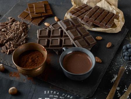 다크 초콜릿 바 스톡 콘텐츠 - 50381635
