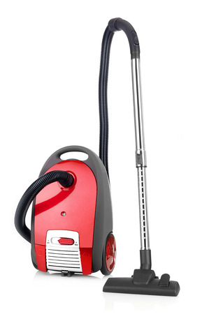 carpet clean: Vacuum cleaner isolated on white Stock Photo