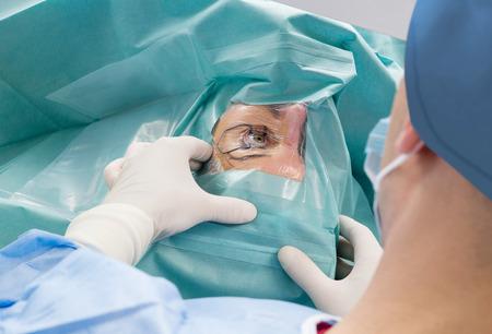 Eye surgery exam Standard-Bild