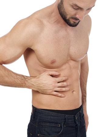 rib cage: Abdominal pain