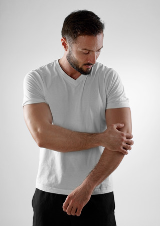 man only: Elbow pain