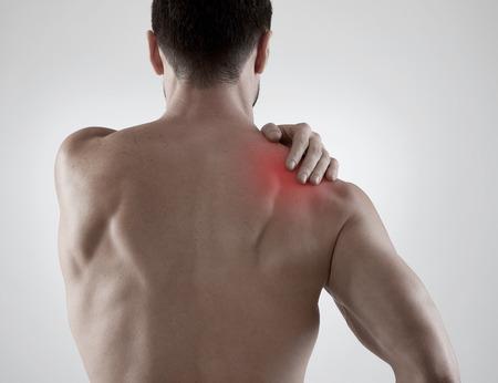 epaule douleur: Mal d'épaule Banque d'images