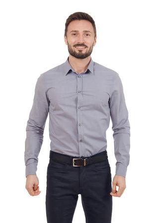 man shirt: Cheerful businessman Stock Photo