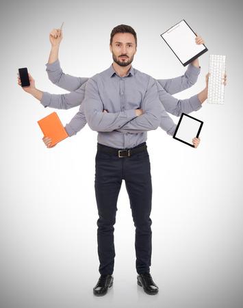 tasking: Multi-tasking man