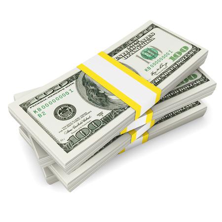 stack of dollars: Dollars stack