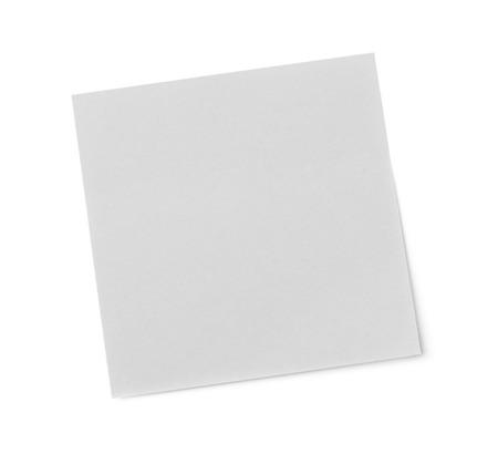 adhesive: Blank adhesive note