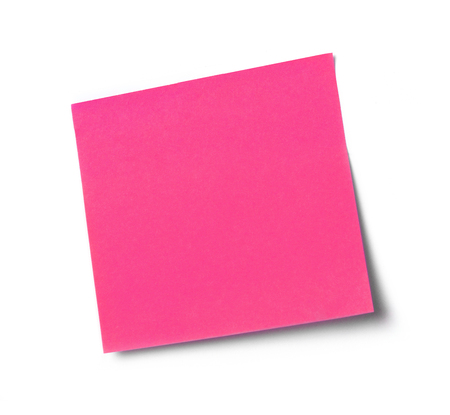 adhesive  note: Pink adhesive note Stock Photo