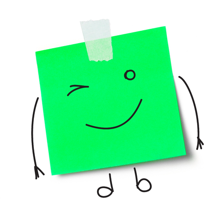 adhesive  note: Smile message on adhesive note