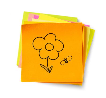 adhesive note: Cartoon adhesive note