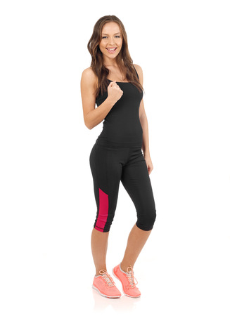 Successful sporty girl Stock Photo