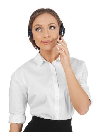 handsfree device: Customer service representant