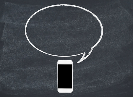 speech bubble: Smart phone with speech bubble