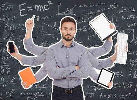 multitasking: Multi-tasking Stock Photo