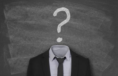 unanswered: Recruitment concept Stock Photo