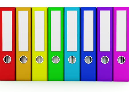 ring binders: Multicolor ring binders