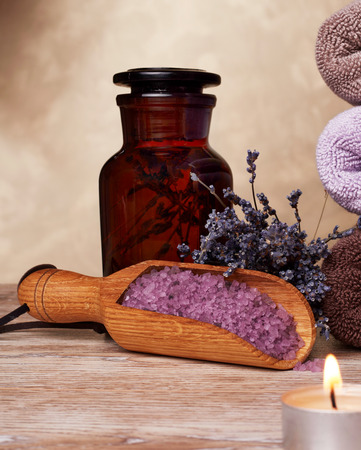 lavender oil: Lavender oil and salt