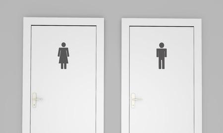 public restroom: Public restroom doors