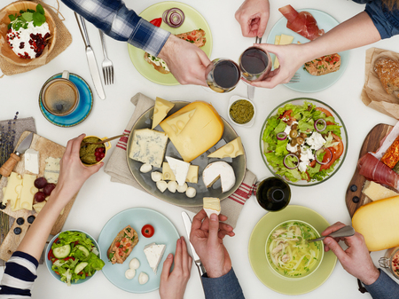 Family dinner Archivio Fotografico