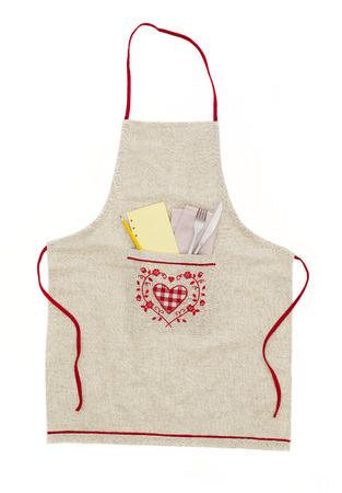 kitchen apron: Kitchen apron Stock Photo