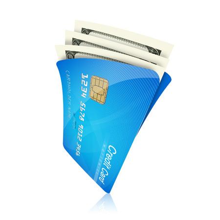 tarjeta de credito: la cartera de tarjetas de crédito Foto de archivo