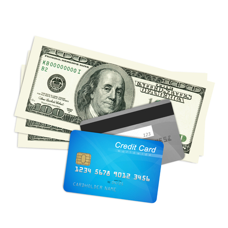 deposit slip: Credit cards and money