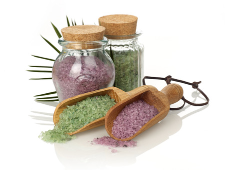 Bath salts isolated on white