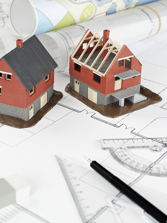 prefabricated building: Housing project Stock Photo
